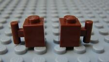 LEGO Brown Brick, Modified 1 x 1 with Handle Lot of 6