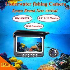 "4.3"" LCD 15M 1000TVL Underwater Ice/Sea Fishing Camera Fish Finder W/Sun-visor"