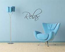 Relax Wall Quote Decal Vinyl Transfer Decal Sticker Mural Decor Bathroom Bedroom