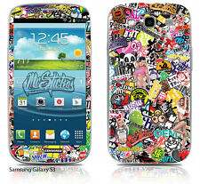 Samsung Galaxy S3 Skin Sticker Kit Sticker Bomb v1