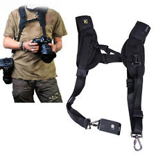 Rapid Double Dual Shoulder Sling Belt Strap for DSLR Digital SLR Camera Canon