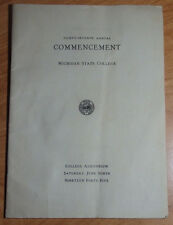 1945 MICHIGAN STATE UNIVERSITY COMMENCEMENT PROGRAM , ALMA MATER, CLASS ROSTER