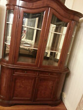 French Louis style Glass Buffet dresser cabinet hutch cabinet buffet top