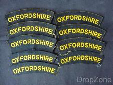 Job Lot of Oxfordshire Cloth Shoulder Titles Patches Badges x 10