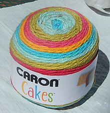 """Caron Cakes in Colorful """"RAINBOW SHERBET"""" - New & Smoke Free Home, Worsted Yarn"""