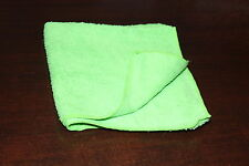 "GREEN Microfiber Towel Super Soft Plush Cleaning Cloth 16""x16"" Ultra Absorbent"