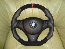 TUNING Lederlenkrad  BMW E90 E91 E92 E93 E81 E82 E87 UNTEN ABGEFLACHT Lenkrad