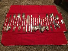 Simeon L & George H Rogers Co. Jasmine Pattern Silverware Service For 6