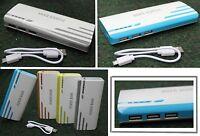 30000mAh Externer Powerbank 3Fach USB Ladegerät Smartphone Power Bank Zusatzakku