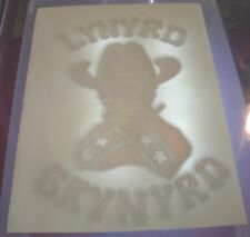 Vintage Lynyrd Skynyrd Skull Flag Iron On Transfer