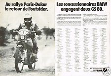 Publicité advertising 1979 (2 pages) Rallye paris dakar moto BMW GS 80