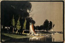 ANTHONY R. BARKER (1880-1963). TEDDINGTON. 1914. 39x59 inches, 100x15... Lot 139