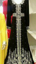 Eid special!!! noir arabe farasha kaftan jalabiya abaya maxi dubai robe