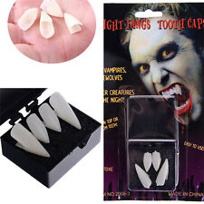 VAMPIRE FANGS CUSTOM FIT TEETH HALLOWEEN FANCY DRESS DRACULA CAPS THERMAL PUTTY