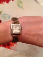 VGC Phillipe Charriol St. Tropez Stainless Steel Square Face w/ Diamond Quartz