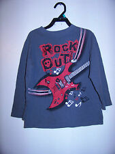 """The Children's Place Little Boys Gray Shirt """"Rock Out!"""" Size 5-6"""