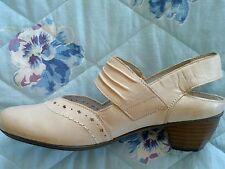RIEKER Pumps Ballerina Schuhe echt Leder Gr. 38 vanille Impressionen NEU!