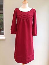 DRESS SIZE 18 BY 2TWO WOOL BLEND BOW & BUTTONS TO BACK SEAM DETAIL WINE BNWT