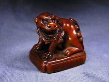 """SUPERB SEAL NETSUKE Japanese Edo 19th Century Antique """"SHISHI (Lion)"""" C652"""