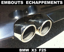 BMW X3 F25 2010 -15 CHROME EXHAUST TIPS TAIL PIPE MUFFLER 71mm M sDRIVE xDRIVE