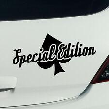 Special Edition tuning fun spruch Autoaufkleber Sticker Auto Aufkleber JDM 20cm