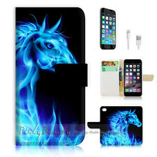 iPhone 6 (4.7') Flip Wallet Case Cover! P0692 Flame Horse