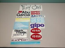 Lot 14 fishing decal stickers tackle box lure rod fish on bass abu garcia #2