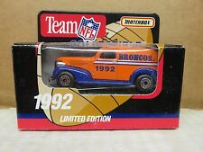 1992 MATCHBOX LIMITED EDITION TEAM COLLECTIBLE '39 CHEVY---DENVER BRONCOS