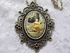 WEDDING PARTY VICTORIAN CAMEO PENDANT ANGEL CHERUB LADY GARDEN MOTHERS DAY MOM