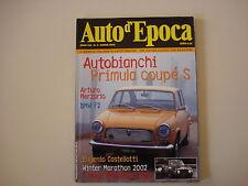 AUTO D'EPOCA 3/2002 AUTOBIANCHI PRIMULA COUPE'/BMW F2/RALLYE DI MONTECARLO 1972