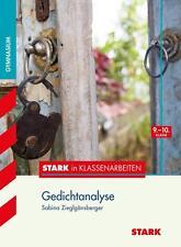 STARK IN KLASSENARBEITEN DEUTSCH - GEDICHTANALYSE 9./10. KLASSE GYMNASIUM