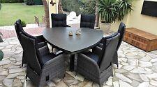 Gartengarnitur Polyrattan Sitzgruppe Gartenset Gartenmöbel verstellbar NEU