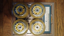 Ultra Wheels inline skate wheels with bearings abec 3 76mm 82A 8 pack