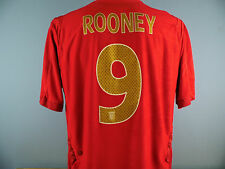 Authentic England 2006-08 Wayne Rooney Away Shirt Size XL Umbro Short Sleeve Red