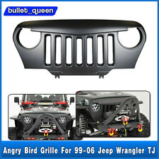 Black Angry Bird Overlay Grill Grille For Jeep Wrangler TJ Sahara 97-06 US Ship