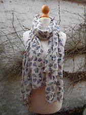 BNWT FAT FACE BUTTERFLY PATTERN SEQUIN SCARF