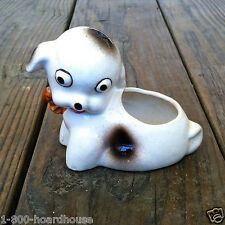 Vintage Original Occupied Japan DOG PUP FLOWER PLANTER Figurine Statue Old NOS