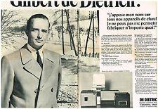 PUBLICITE  1968   GILBERT DE DIETRICH  appareils de chauffage  (2 pages)