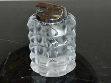 "MID CENTURY CRYSTAL ROSENTHAL RONSON LALIQUE STYLE CIGARETTTE LIGHTER 4 1/8"" H"