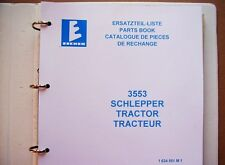 Eicher 3553 Büffel  Ersatzteilliste Schlepper 1976