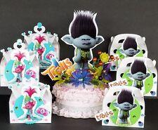 "Trolls prince BRANCH cake topper + 20pc Treat boxes centerpiece decoration 13"""