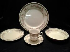 "China Pearl ""Donna"" Pattern Pink Floral (4) 5 Piece Place Setting"