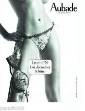 PUBLICITE ADVERTISING 096  2005  Aubade lingerie sous vetements leçon 63