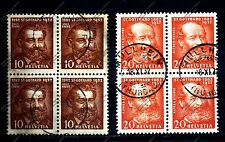 "SWITZERLAND SCHWEIZ: 1932 Mi:CH-259-60 ""Gotthard Tunnel"" Block of 4. USED"