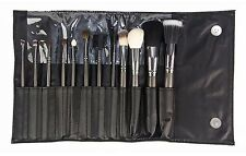Beaute Basics 12 Piece Deluxe Professional Makeup Brush Set in Black Case