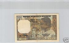 MADAGASCAR 100 FRANCS / 20 ARIARY ND (1961) PICK 52 ALPHABET T.2618 N° 993