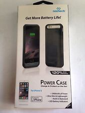Naztech iPhone 6 or 6S MFi Power Case Black MFi Power Case NEW