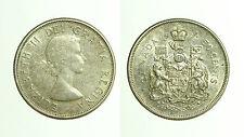 pcc1664_23) CANADA - SILVER 50 CENTS 1964 - ELIZABETH II QUEEN