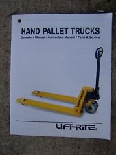 1996 Lift - Rite Hand Pallet Truck Operator Manual Parts Service MORE IN STORE V
