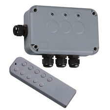 13A 3 channel switch box with wireless remote outdoor lighting waterproof IP66